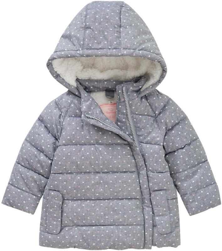 Baby Winterjacke mit Herz-Allover