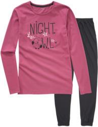 Mädchen Schlafanzug mit Eulen-Motiv