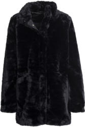 Damen Mantel aus Webpelz
