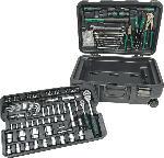 MediaMarkt MANNESMANN 29070 Werkzeugtrolley 122-teilig Handwerkzeug, Grün/Schwarz
