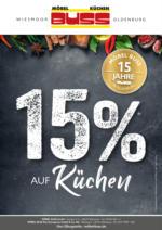 15% auf Küchen