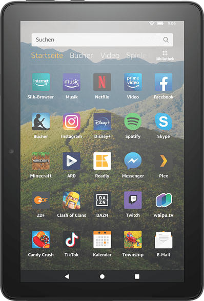 AMAZON Fire HD 8-Tablet, 8-Zoll-HD-Display, 32 GB, Schwarz mit Spezialangeboten, Tablet , 32 GB, 8 Zoll, Schwarz