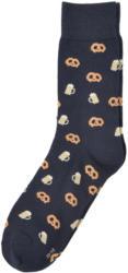 1 Paar Herren Socken mit Brezel-Allover