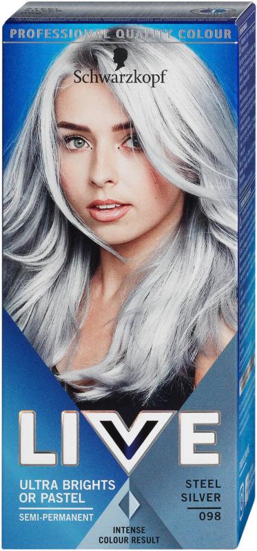 Live Ultra Brights or Pastel Semi-permanente Tönung - Nr. 098 Steel Silver