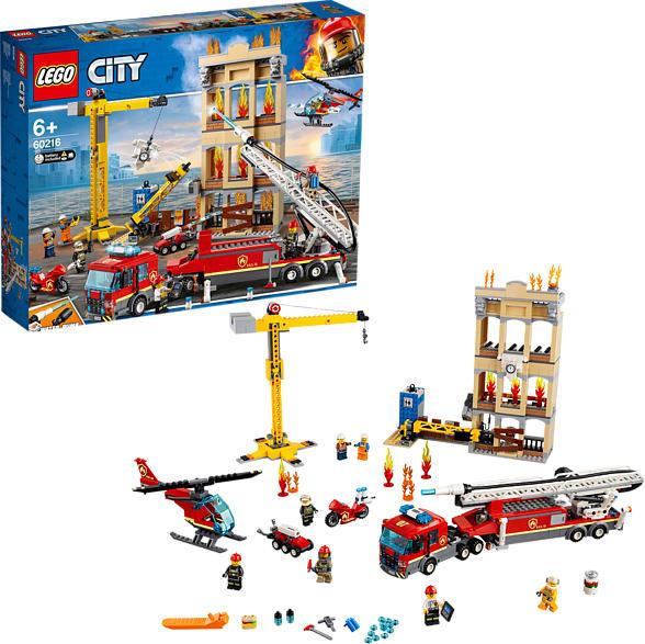 LEGO 60216 Feuerwehr in der Stadt Bausatz, Mehrfarbig