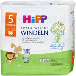 Hipp Babysanft Extra Weiche Windeln Gr. 5 (11-17 kg)