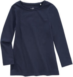 Mädchen Langarmshirt im Basic-Look