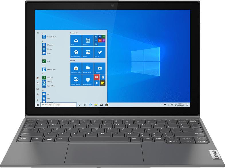 LENOVO IdeaPad Duet 3i, Convertible mit 10.3 Zoll Display, Celeron® Prozessor, 4 GB RAM, 64 GB eMMC, Intel UHD Grafik 600, Graphitgrau