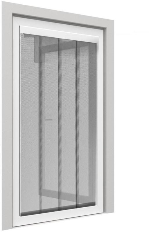 Tür Fliegengitter, 60x210 cm, anthrazit, 2tlg.