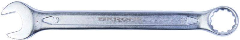 Gabel-Ringschlüssel, abgewinkelt, 19mm 19 mm