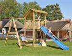 """BayWa Bau- & Gartenmärkte Spielturm """"Jungle Shelter & 1-Schaukel"""", inkl. blauer langer Rutsche blauer Rutsche"""
