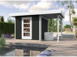 "Designhaus ""wekaLine 172 A"" mit Anbau 150 cm, 399x284x226 cm, grau 399x284x226 cm | grau"