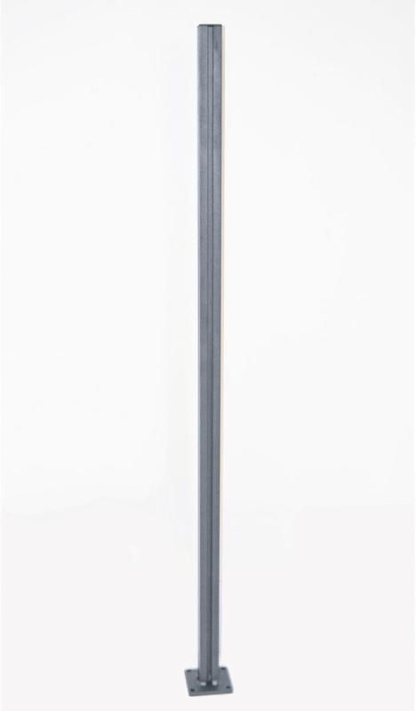 Universalpfosten für Glaswindschutz, Aluminium
