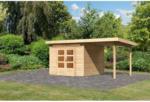 "BayWa Bau- & Gartenmärkte Gartenhaus-Set ""Kandem 6"" mit Anbaudach 2,35 m , naturbelassen"