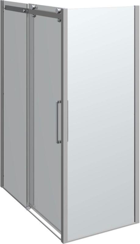 """Schiebetür mit Panel """"Deluxe"""", 140x80, Chrom/Klar 140 cm   80 cm"""