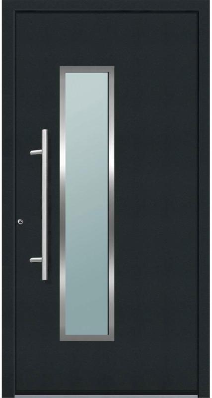 "Aluminium Sicherheits-Haustür ""Ravenna Superior"", 60mm, anthrazit, 110x210 cm, Anschlag links, RC2-zertifiziert, inkl. Griffset 110 cm | Links"