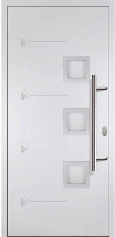 """Haustür """"JM Novum Unique"""" Mod. 02, weiß/weiß, Anschlag rechts, 108x208 cm rechts"""