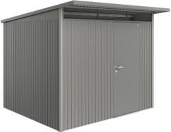 "Gerätehaus ""AvantGarde"", A6, quarzgrau metallic, mit Standardtuer                260x260x218 cm | Standardtür"