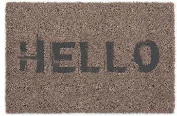 """Fußmatte """"Kokos"""" Hello 40x60 cm, taupe"""