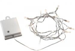 LED-Außenlichterkette, 40 Dioden, transparentes Kabel, batterie 40