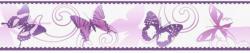 """Selbstklebende Borte """"Schmetterlinge"""", lila"""