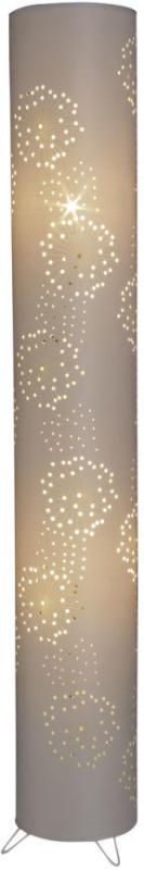 Stehlampe aus Stoff Creme