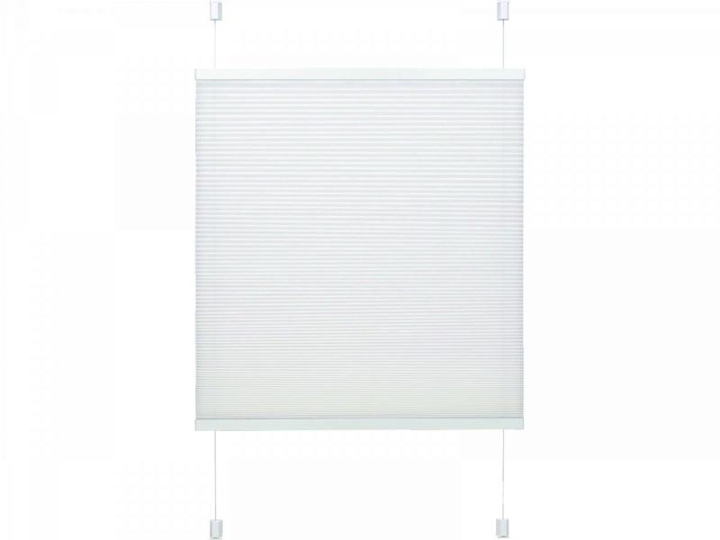 """Plissee """"Easyfix"""" mit 2 Bedienschienen, 80x130 cm, weiß 80x130 cm"""