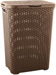 """Rattan-Wäschebox """"Style"""", dunkelbraun, 60 L braun"""