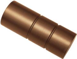 """Endstück """"Zylinder"""" für Windsor"""", Ø25 mm, bronze"""