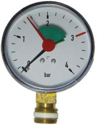 """Manometer 0-4 Bar, 3/8"""" Anschluß unten"""