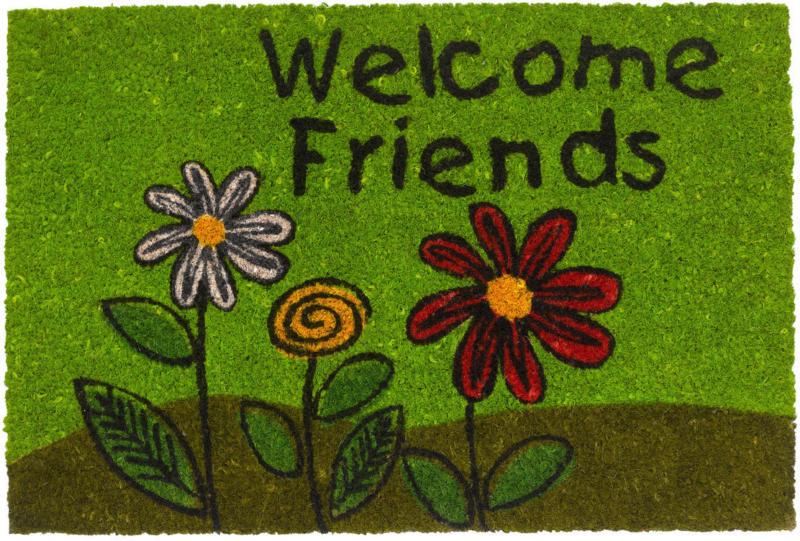 "Decor-Kokosmatte ""Welcome Friends"", 40x60 cm"