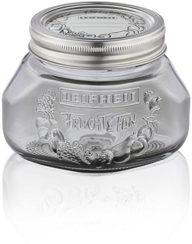 Einmachglas, 500 ml, smoky grey