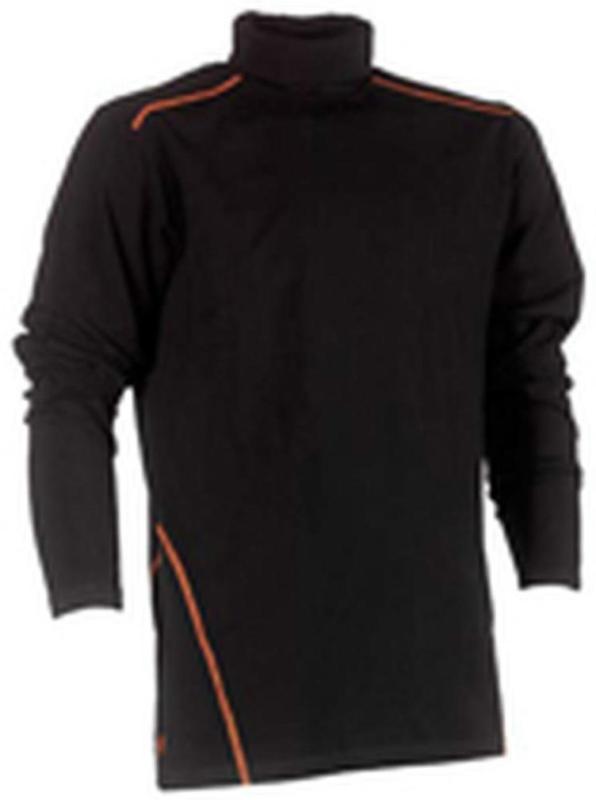 "Rollkragen T-Shirt ""Lotis"", langärmlig, schwarz, Gr. XXL XXL"