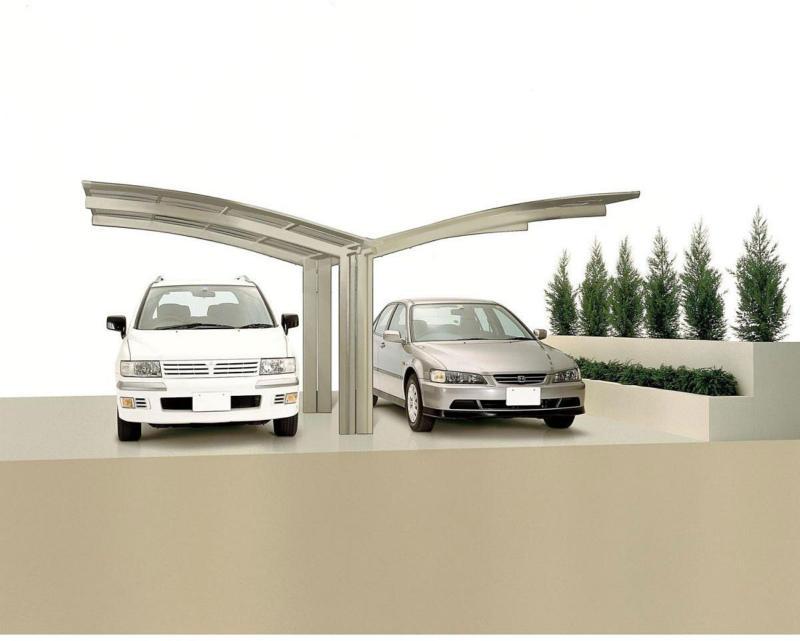 "Carport Alu ""Portoforte 80 Y-Ausführung"" Edelstahl-Look Edelstahl   4954 cm"