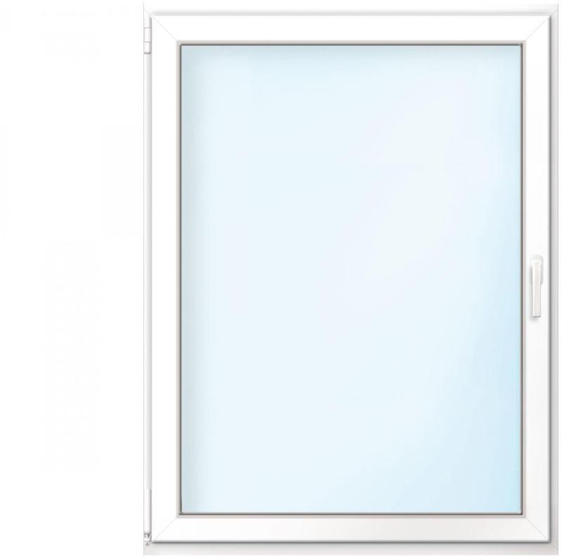 """Wärmeschutz-Fenster """"76/3"""", 60x75 cm, weiß, Anschlag links"""