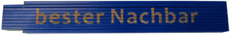 """Meterstab """"bester Nachbar"""", 2m, blau"""