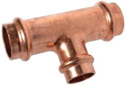 T-Reduzierstück, Pressfitting für Kupfer, 28x22x28 mm, V-Kontur 28x22x28 mm