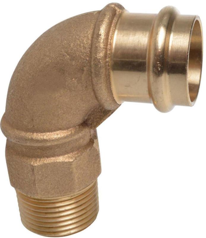 Übergangsstück, Pressfitting für Kupfer, 28 mmx1AG, C-Kontur 28 mm Zoll