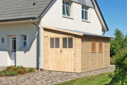 "Gerätehaus ""Bomlitz 4"" naturbelassen, 238x355 cm 238x355 cm"