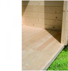 Fußboden für Gartenhaus, Sockelmaß 200x170 cm