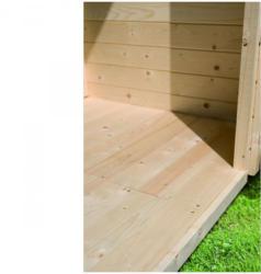 Fußboden für Gartenhaus, Sockelmaß 175x175 cm