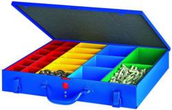 """Metallkoffer """"WK7"""", 23 Boxen, blau"""