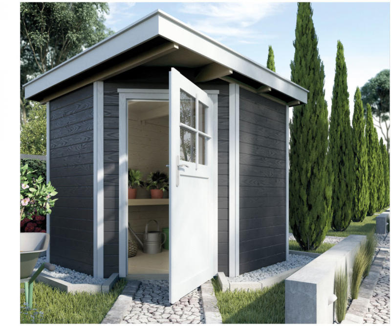 """Gartenhaus """"229"""", 21 mm, anthrazit, mit Fußboden, 209x205x217 cm 209x205x217 cm"""