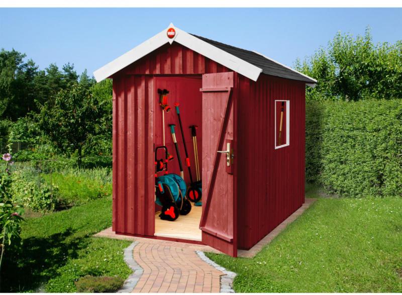"""Gartenhaus """"Schwedenhaus"""" rot, mit Fußboden, 162x246x220 cm 162x246x220 cm"""