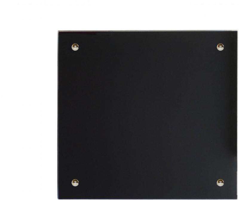 Infrarot Glasheizkörper, 50x50 cm, schwarz 50x50
