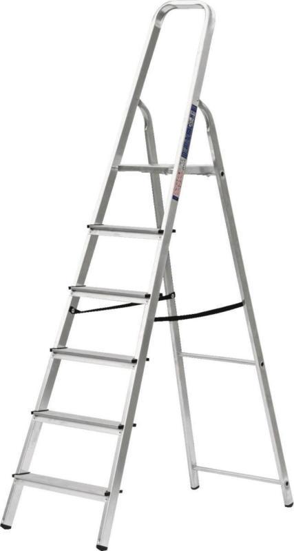 Haushaltsleiter, 6 Stufen, Aluminium