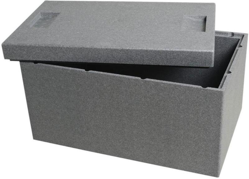 Thermobox mit Deckel, 54,5x35x30 cm, grau