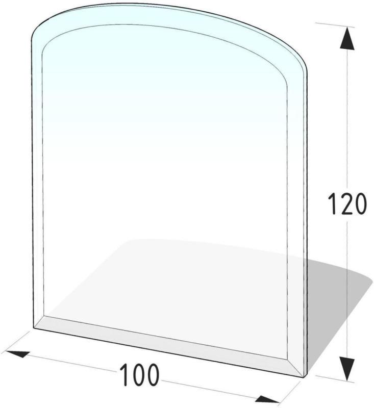 """Glasbodenplatte Segmentbogen """"100x120 cm"""""""