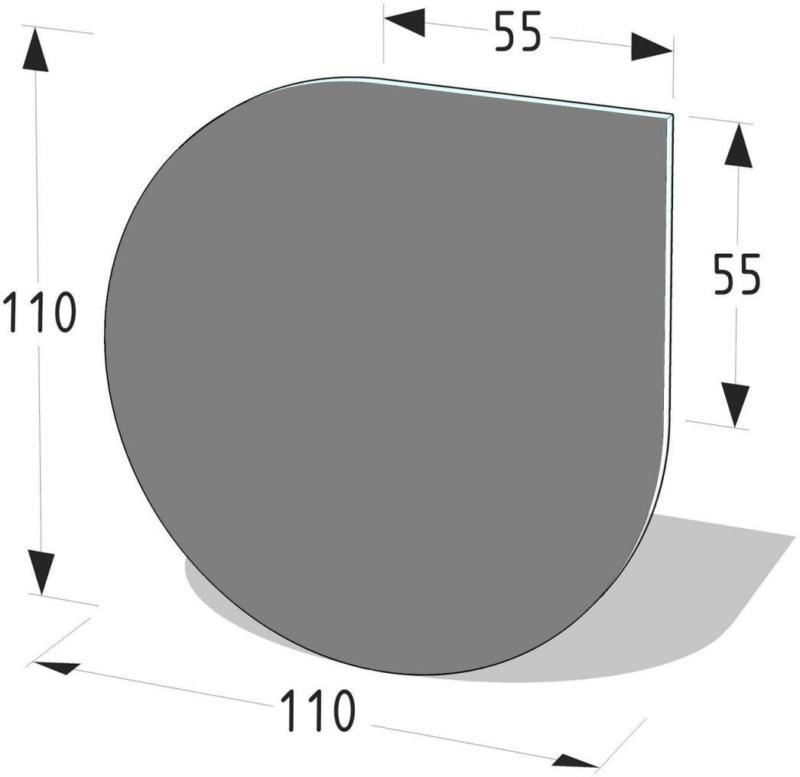 """Metallbodenplatte Tropfenform """"110x110 cm"""""""