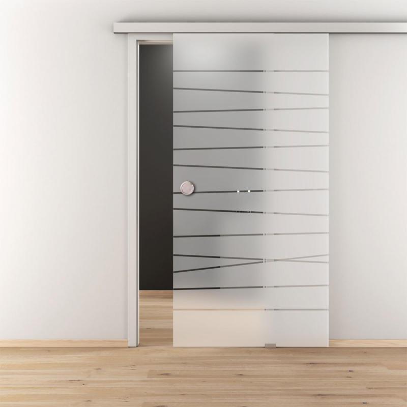 "Glasschiebetür ""NOVA 514 ESG"", mattiert, 93,5x205,8x8 cm"